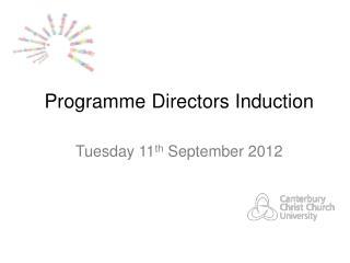 Programme Directors Induction