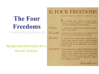 The Four Freedoms Franklin Delano Roosevelt