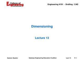 Dimensioning
