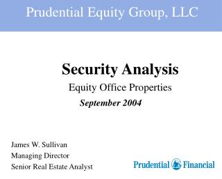 Security Analysis Equity Office Properties