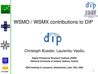Christoph Bussler, Laurentiu Vasiliu Digital Enterprise Research Institute (DERI)