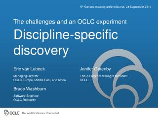 Discipline-specific discovery