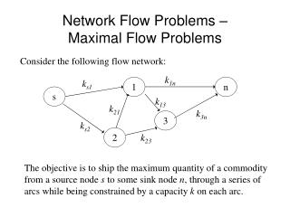 Network Flow Problems – Maximal Flow Problems