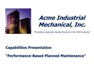 Acme Industrial Mechanical, Inc.