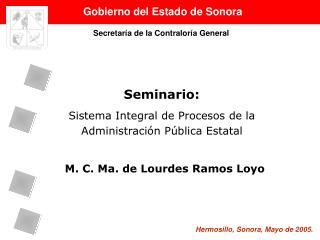 Seminario: Sistema Integral de Procesos de la Administración Pública Estatal