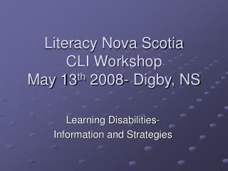 Literacy Nova Scotia