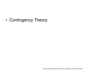 STRUCTURAL CONTINGENCY THEORY