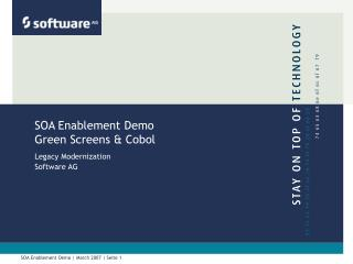 SOA Enablement Demo Green Screens & Cobol