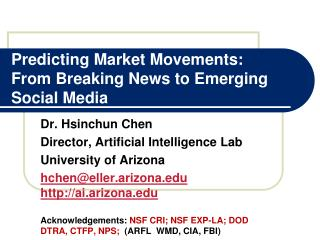 Predicting Market Movements:  From Breaking News to Emerging Social Media