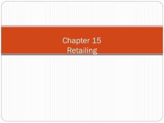 Chapter  15 Retailing
