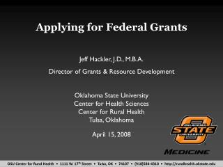 Applying for Federal Grants