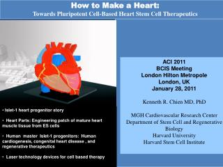How to Make a Heart: Towards Pluripotent Cell-Based Heart Stem Cell Therapeutics