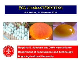 EGG CHARACTERISTICS 4th  Revisi on , 1 2 Nop ember  20 10