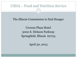 USDA � Food and Nutrition Service
