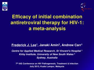 Efficacy of initial combination  antiretroviral therapy for HIV-1: a meta-analysis
