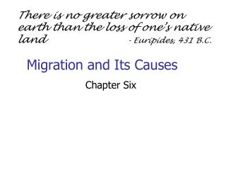 Migration and Its Causes