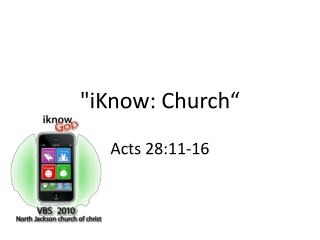 """iKnow: Church"""
