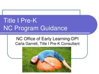 Title I Pre-K NC Program Guidance
