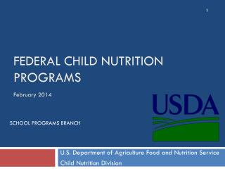 Federal child nutrition programs