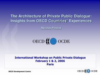 International Workshop on Public Private Dialogue February 1 & 2, 2006 Paris