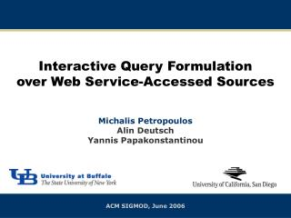Interactive Query Formulation over Web Service-Accessed Sources