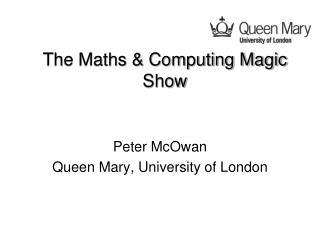 The Maths & Computing Magic Show