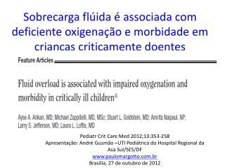 Pediatr Crit Care Med 2012;13:353-258