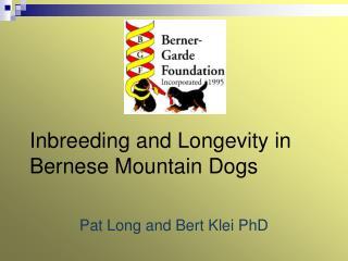 Inbreeding and Longevity in Bernese Mountain Dogs