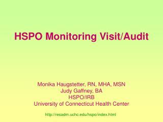 HSPO Monitoring Visit