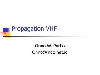Propagation VHF