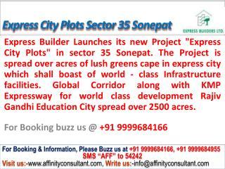 Express kmp City Plots Sonepat @09999684166