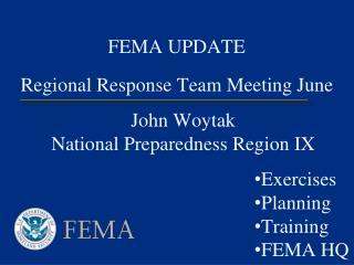 FEMA UPDATE