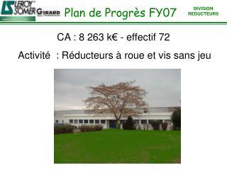 Plan de Progrès FY07