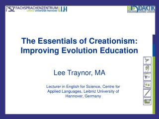 The Essentials of Creationism: Improving Evolution Education