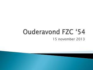 Ouderavond FZC '54