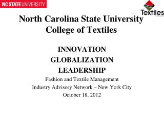 North Carolina State University College of Textiles
