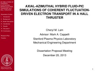 Cheryl M. Lam  Advisor: Mark A. Cappelli Stanford Plasma Physics Laboratory