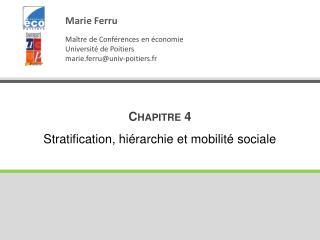 Chapitre 4 Stratification, hiérarchie et mobilité sociale