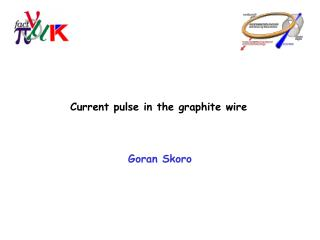Current pulse in the graphite wire