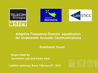 Adaptive Frequency-Domain  equalization for Underwater Acoustic Communications