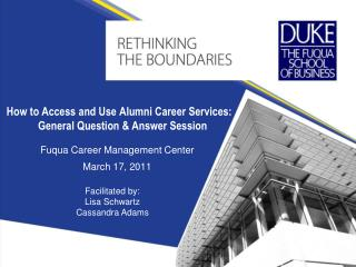 How to Access and Use Alumni Career Services: General Question  Answer Session