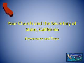 Your Church and the Secretary of State, California