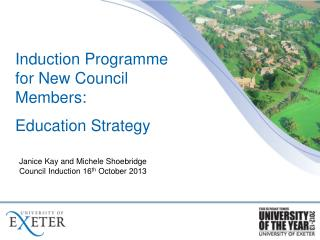 Induction  Programme  for New Council Members:  Education Strategy