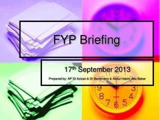 FYP  Briefing