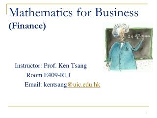 Mathematics for Business (Finance)