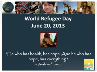 World Refugee Day  June 20, 2013