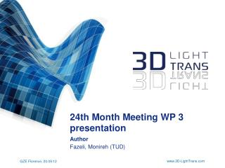 24th  Month  Meeting WP 3  presentation