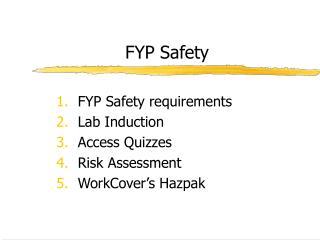 FYP Safety