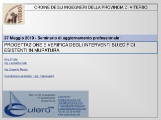 ORDINE DEGLI INGEGNERI DELLA PROVINCIA DI VITERBO