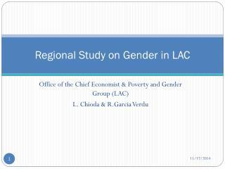 Regional Study on Gender in LAC